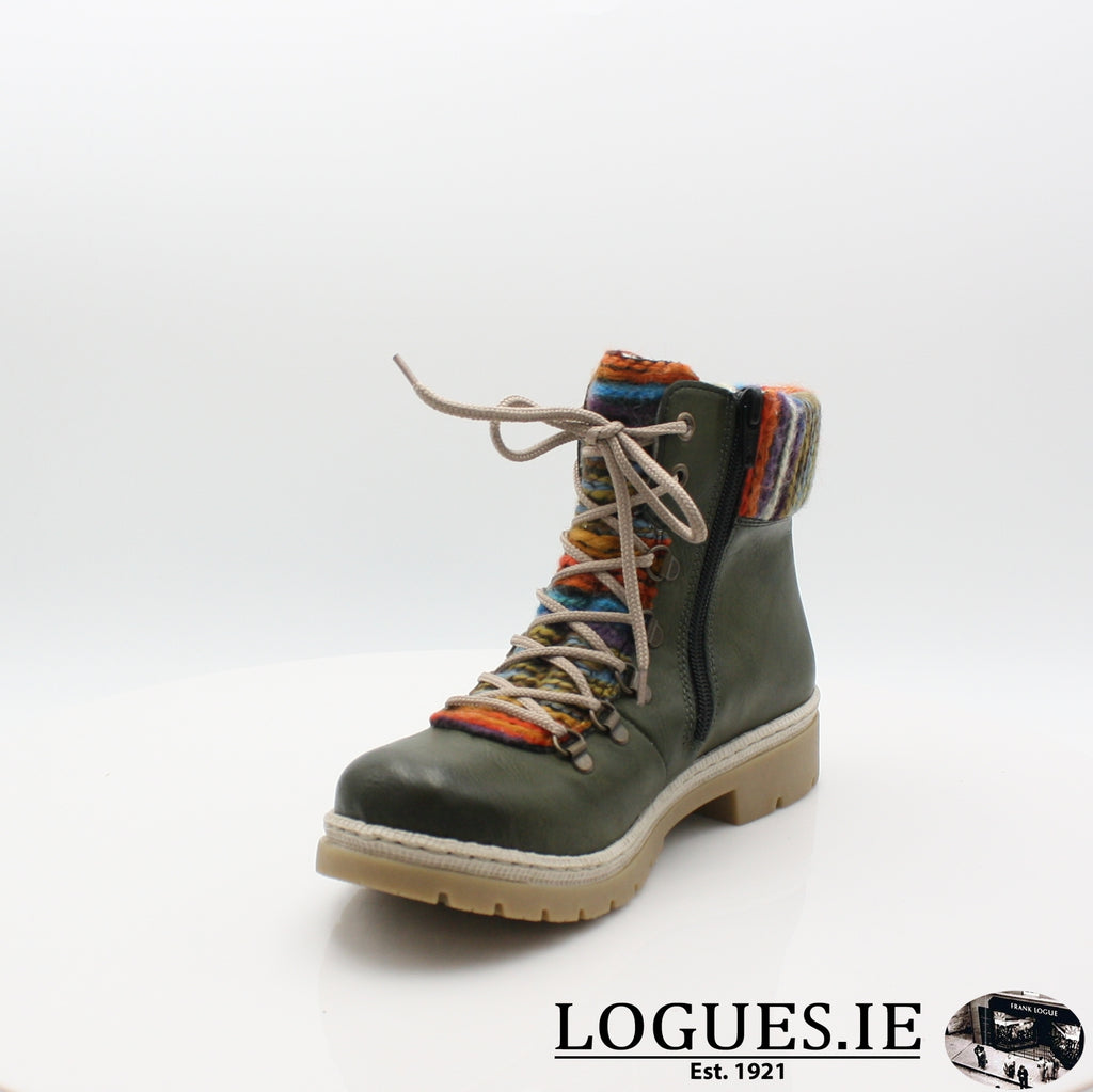 Y9432 RIEKER 19BOOTSLogues Shoesgreen combination 52 / 38
