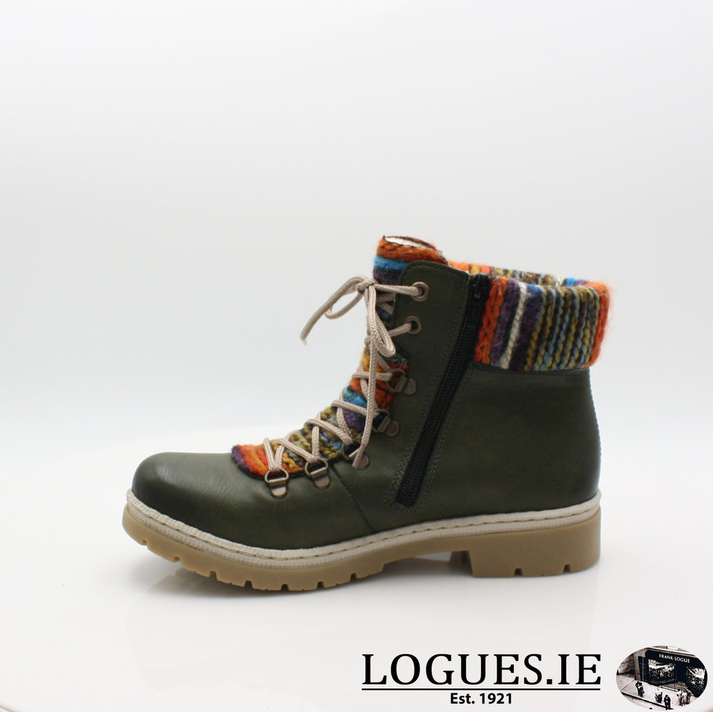 Y9432 RIEKER 19BOOTSLogues Shoesgreen combination 52 / 39