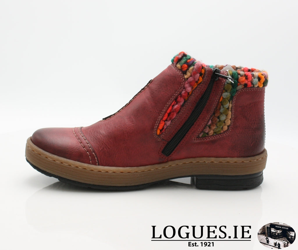 RKR Z6784-Ladies-RIEKIER SHOES-wine/mogano/multi 35-42-Logues Shoes