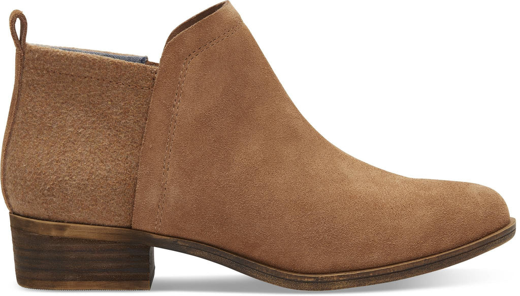 DEIA BOOTIE TOMS AW17-Ladies-TOMS SHOES-TOFFEE SUEDE 10010980-4 UK = 6 US-Logues Shoes