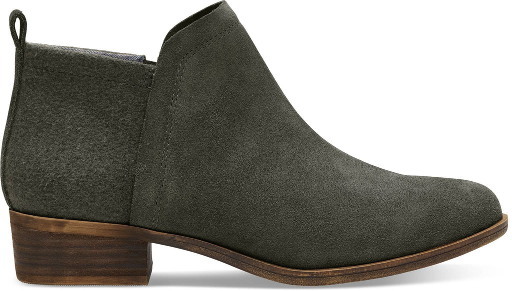 DEIA BOOTIE TOMS AW17-Ladies-TOMS SHOES-FOREST SUEDE 10011010-4 UK = 6 US-Logues Shoes