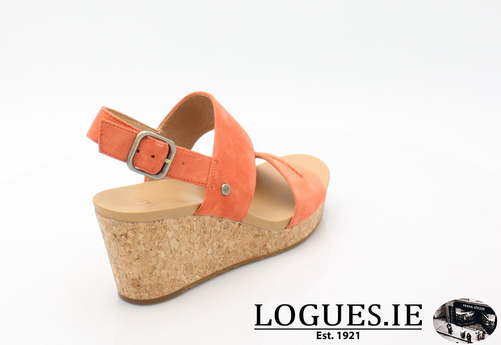 ELENA 11 UGGS SS18-SALE-UGGS FOOTWEAR-VIBRANT CORAL-42 EU = 9.5 UK =11 US-Logues Shoes