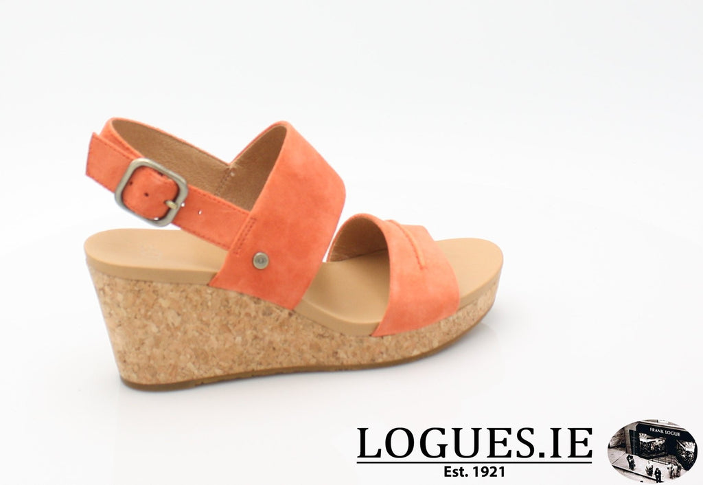 ELENA 11 UGGS SS18-SALE-UGGS FOOTWEAR-VIBRANT CORAL-43 EU = 10.5 UK =12US-Logues Shoes