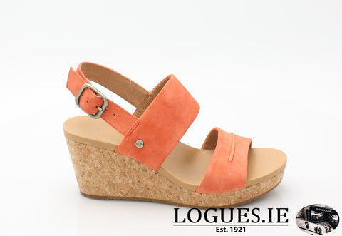 ELENA 11 UGGS SS18LadiesLogues ShoesVIBRANT CORAL / 36 EU =3.5 UK=5 US