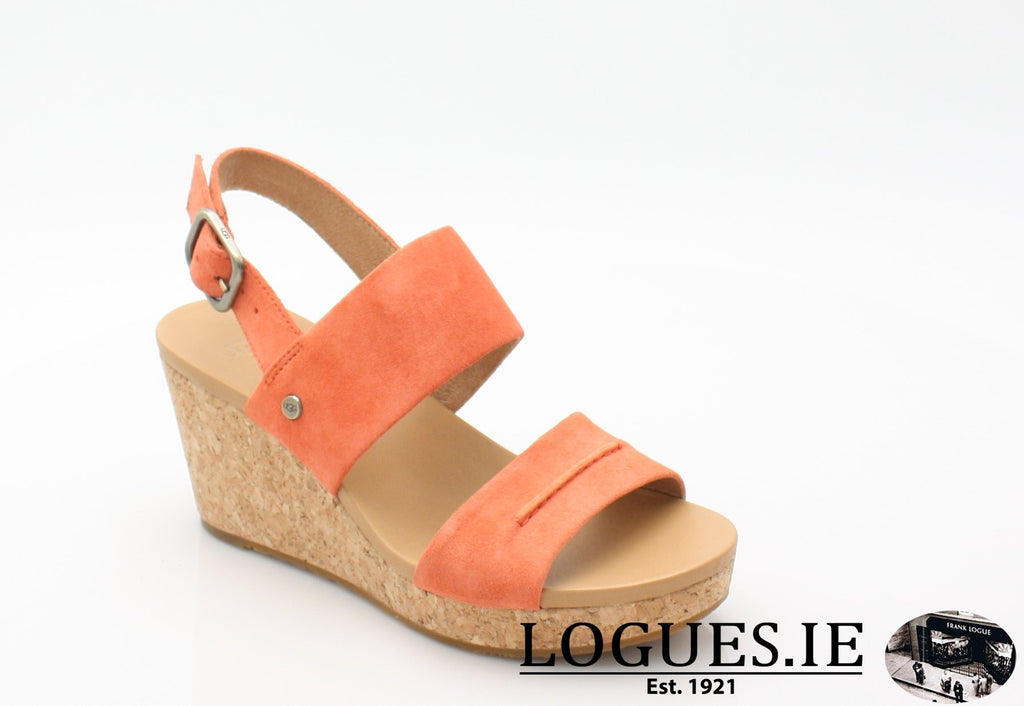 ELENA 11 UGGS SS18-SALE-UGGS FOOTWEAR-VIBRANT CORAL-37 EU - 4.5 UK=6 US-Logues Shoes