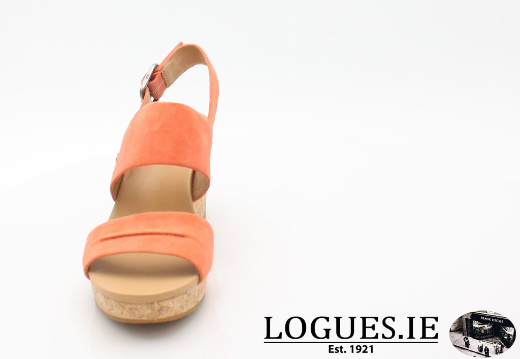 ELENA 11 UGGS SS18-SALE-UGGS FOOTWEAR-VIBRANT CORAL-38 EU = 5.5 UK=7 US-Logues Shoes