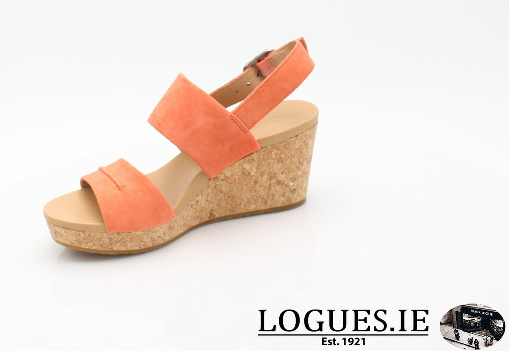 ELENA 11 UGGS SS18-SALE-UGGS FOOTWEAR-VIBRANT CORAL-39 EU = 6.5 UK=8 US-Logues Shoes
