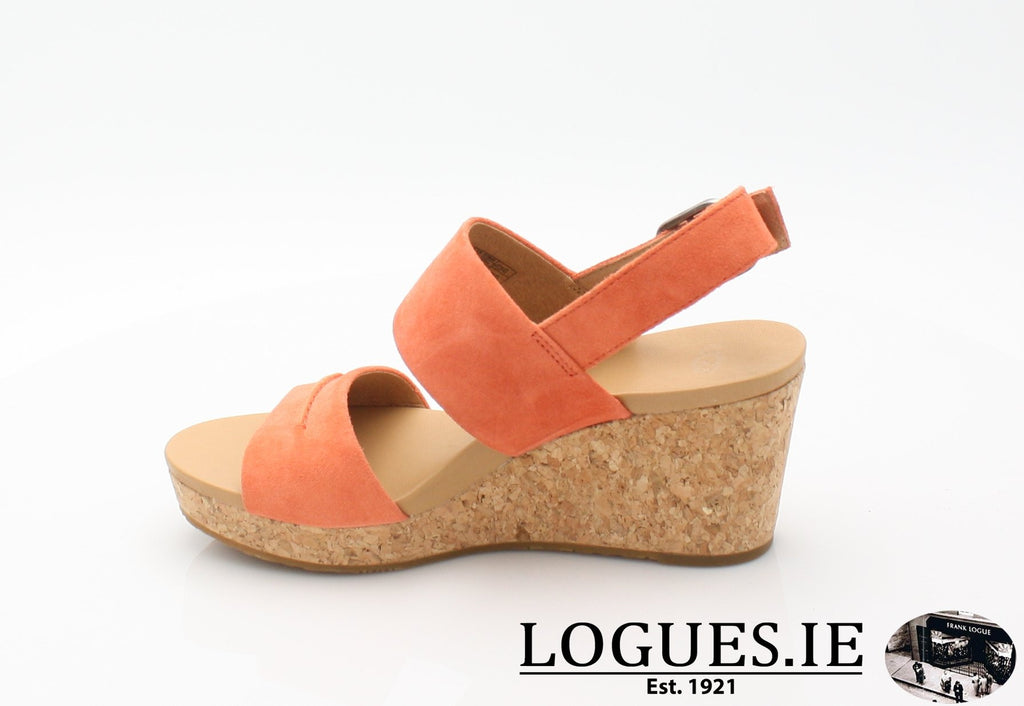 ELENA 11 UGGS SS18-SALE-UGGS FOOTWEAR-VIBRANT CORAL-40 EU = 7.5 UK=9 US-Logues Shoes