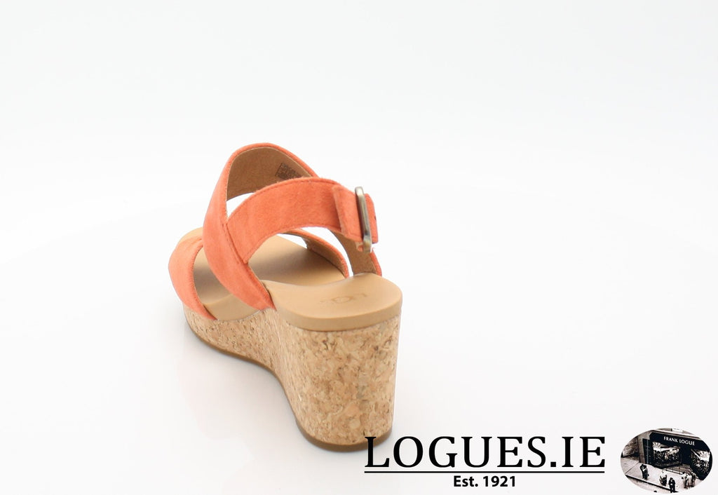 ELENA 11 UGGS SS18-SALE-UGGS FOOTWEAR-VIBRANT CORAL-36 EU =3.5 UK=5 US-Logues Shoes
