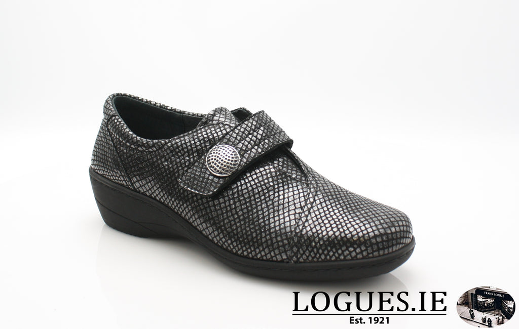 JESSICA SOFT MODE AW 18LadiesLogues ShoesBLACK SNAKE / 37 = 4 UK