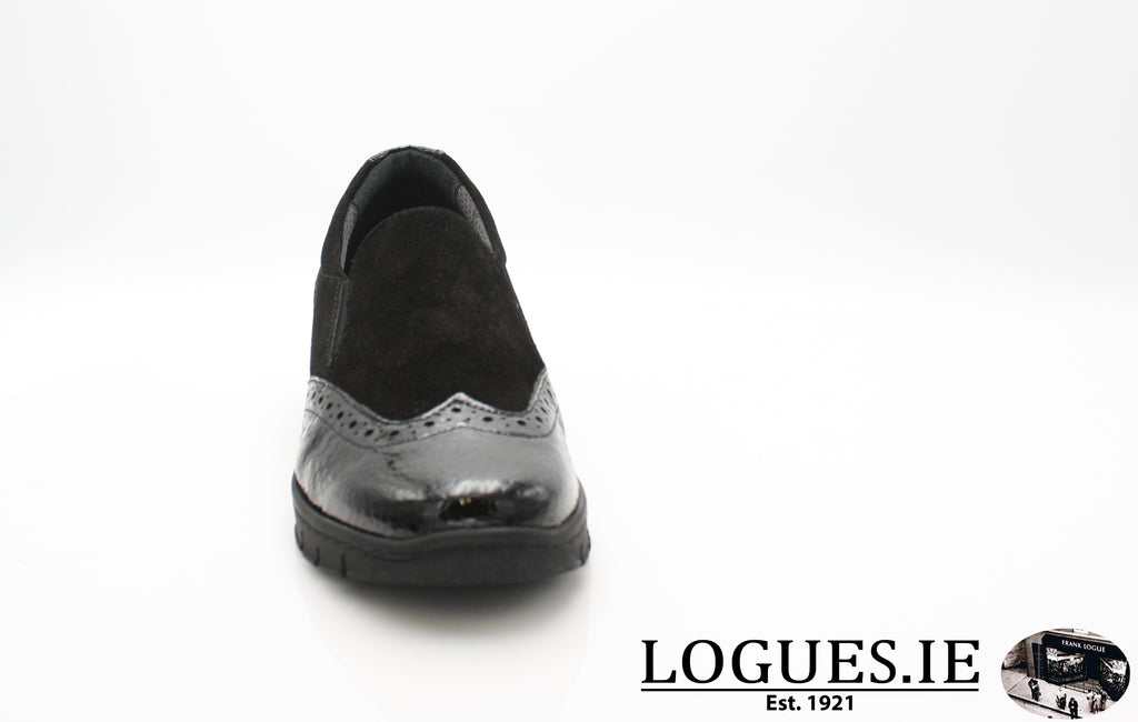 SADIE SOFT MODE AW18LadiesLogues ShoesBLACK / 39 = 6 UK