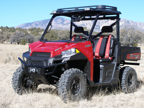 polaris ranger roof, roof rack and halogen light set.