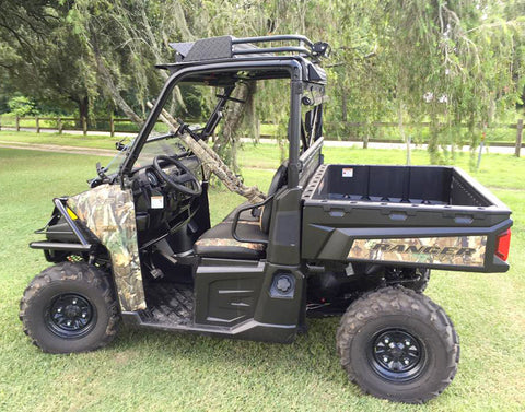 polaris ranger xp900 with mk5 roof, fold down front window and rear window
