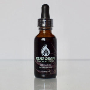 500mg Chocolate Mint Hemp Drops - THC-FREE