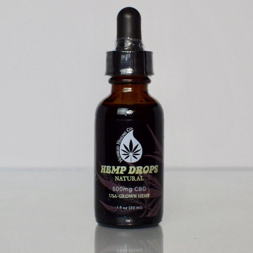 500mg Natural Hemp Drops - THC-FREE