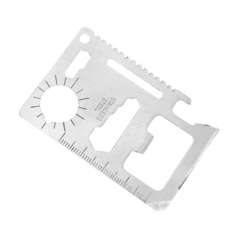 E03 - Credit Card Sized Stainless Steel Multi-Tool