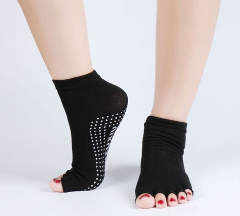 S07 - Women's Open Toes Non-Slip Socks - 6 Color Choices