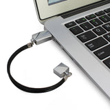 U6 - Metal Bracelet Wristband Rotatable USB Flash Drive 2GB To 32GB Memory Stick Fashion Design