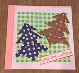 H1 - Handmade Origami Christmas Greeting Cards - Set Of 5