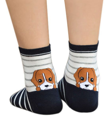 S06 - Peeking Pet Fun Cartoon Socks - 6 Design Choices