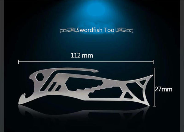 E11 - Swordfish Stainless Steel Multi-tool EDC Gear
