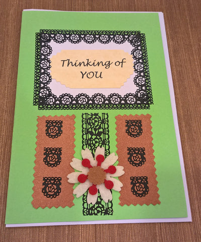 "H5 - Handmade Greeting Cards - ""Thinking Of You"" by Deborah Wong"