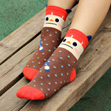 S13 - Cute Cartoon Face Women's Girls' Socks - 5 Design Choices