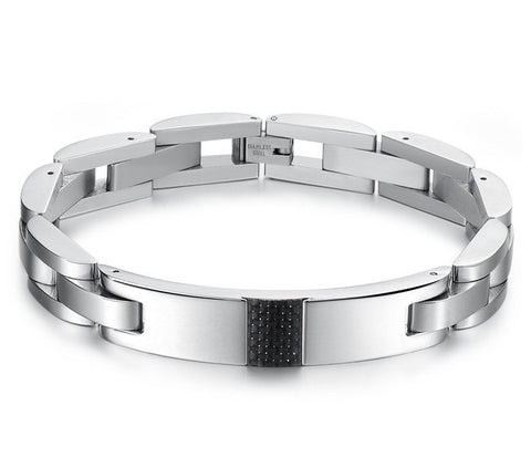 W10 - Men's Stainless Steel Wristband Bracelet