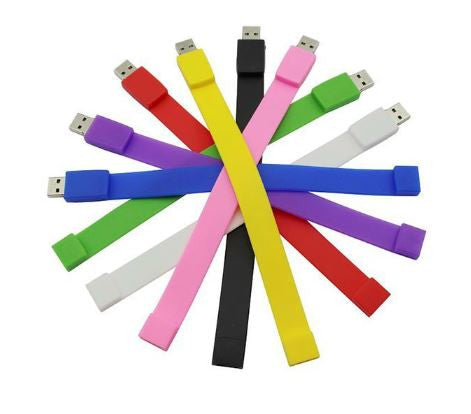 U1 - 100% Silicone Bracelet Wrist Band 4GB To 32GB USB 2.0 Flash Drive