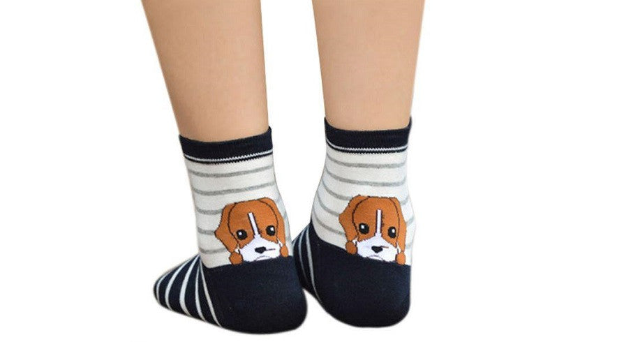 Love Animal Cartoon Socks