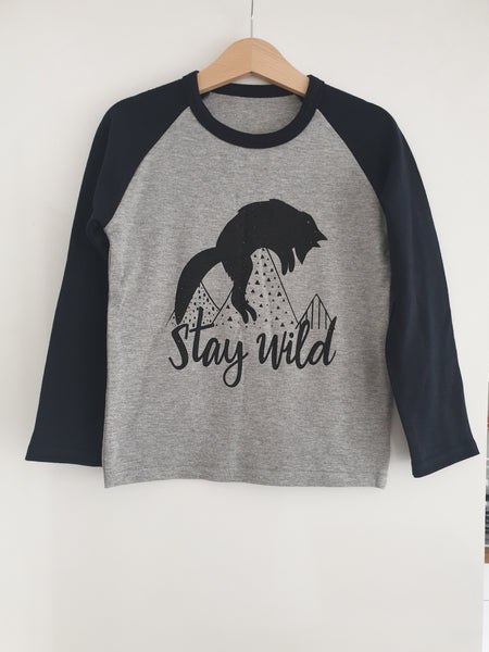 Stay Wild Baseball Tshirt