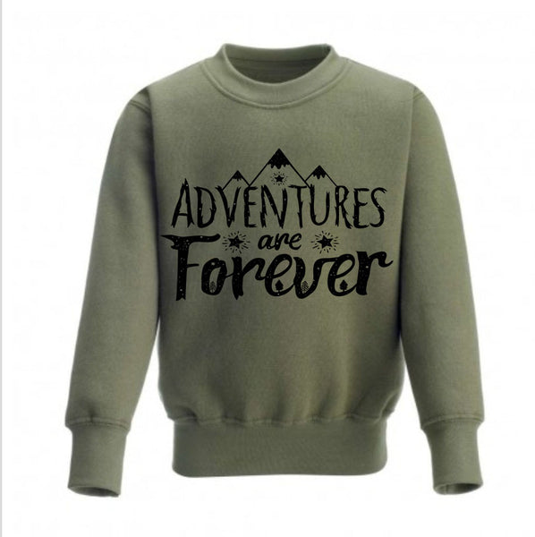 Adventure Are Forever Kids Sweatshirt