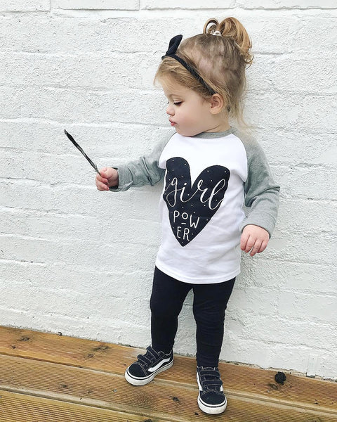 Girl Power Kids Raglan Tee