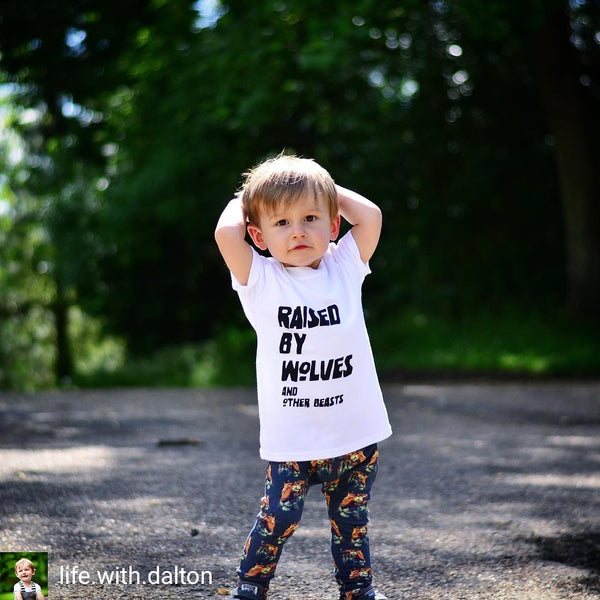 Raised By Wolves Kids Tee