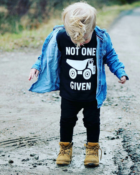 Not One Truck Given Kids Tee