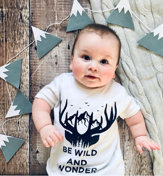 BE WILD AND WONDER Kids Tee