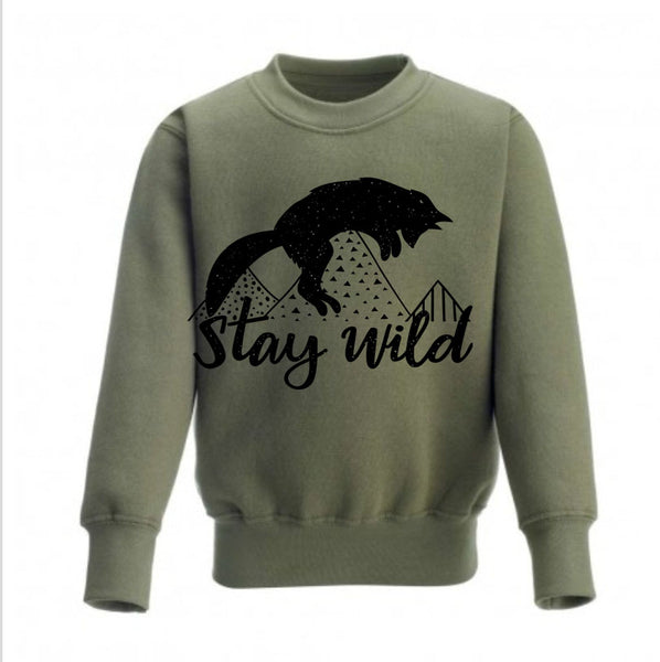 Stay Wild Kids Sweatshirt