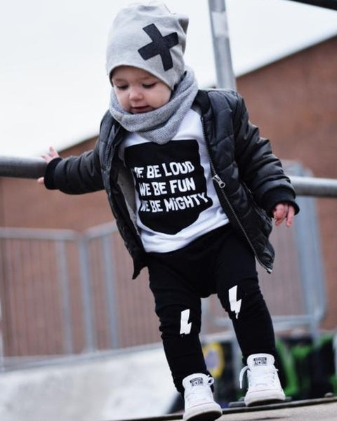 We Be Loud, We Be Fun, We Be Mighty Kids Raglan Tee