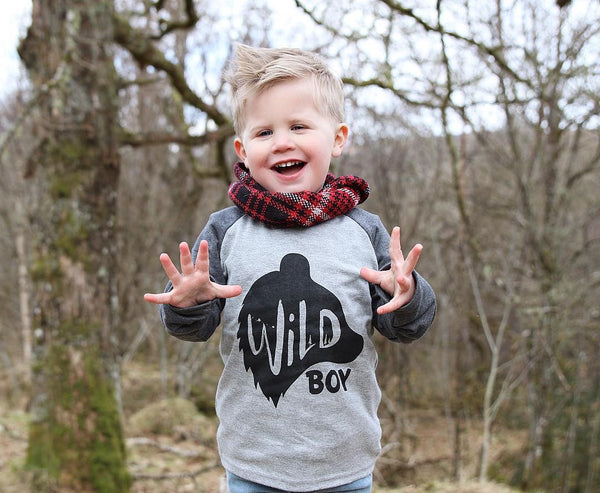 (NEW) Wild Boy Kids Raglan Tee