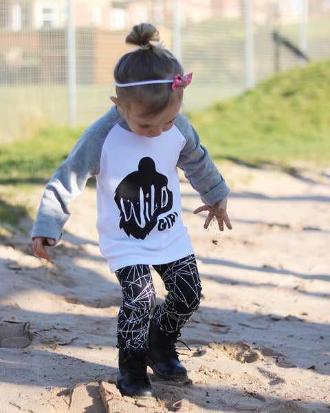 (NEW) Wild Girl Kids Raglan Tee