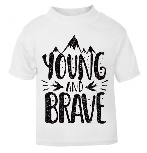 Young And Brave Kids Tee