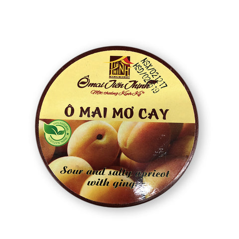 Ô mai mơ cay Tiến Thịnh 200g - Sour and salty apricot with ginger