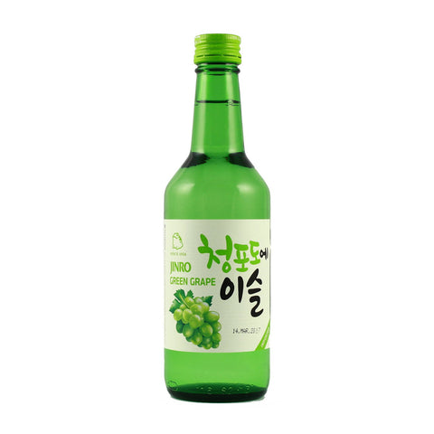 Jinro Grean Grape 13% 360ml- Rượu Soju vị nho xanh 13% 360ml