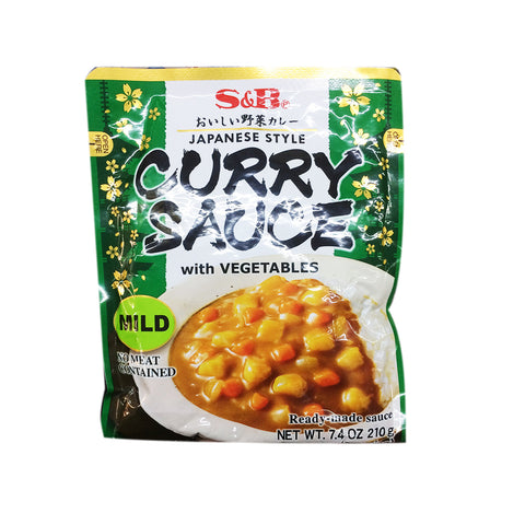 Curry sauce mit vegetable- sốt curry nhật chay 210g