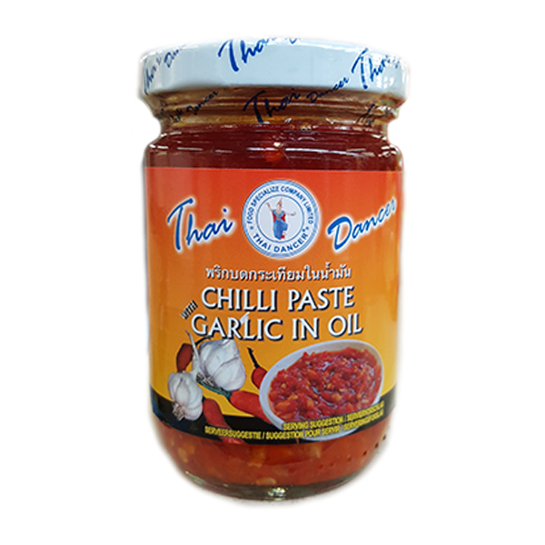 Chili Paste Knoblauch in Öl Thai Dancer Thailand 227g - Ớt Tỏi ngâm dầu Thái Dancer Thái Lan 227g