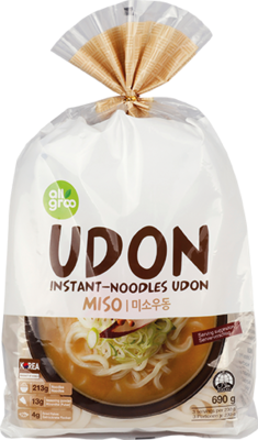 Udon Nudeln, Miso 3 Portionen 690g ALLGROO - Mì Udon MISO suất 3 phần 690g ALLGROO