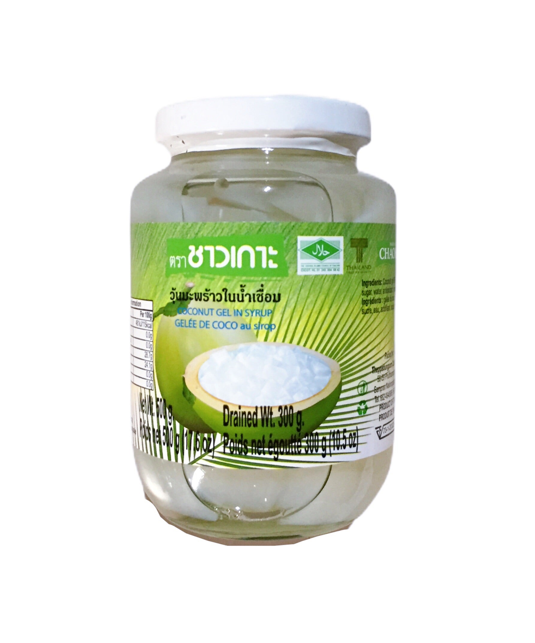 Chaokoh Coconut gel in Syrup thạch dừa 500g