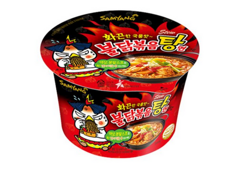 Instantnudeln Hot Chicken Ramyun Stew Big Bowl-Mì bát 120g Samyang