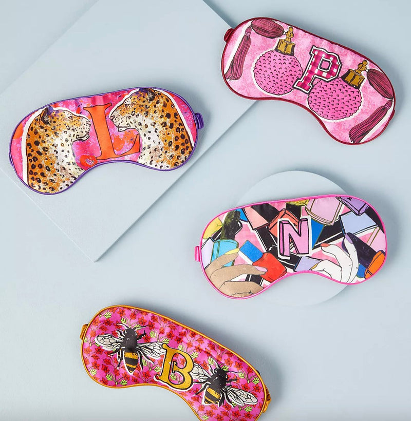 ALPHABET SILK EYE MASKS
