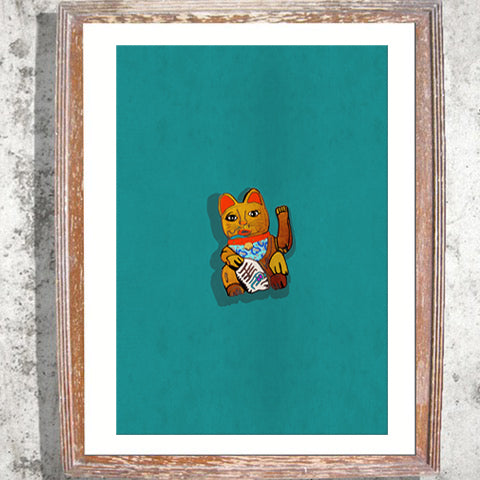 "Signed Print / ""The Waving Cat"""